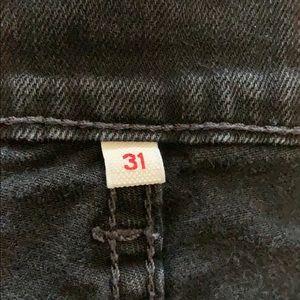 Levi's Shorts - Levi's size 31 black denim shorts roll cuff